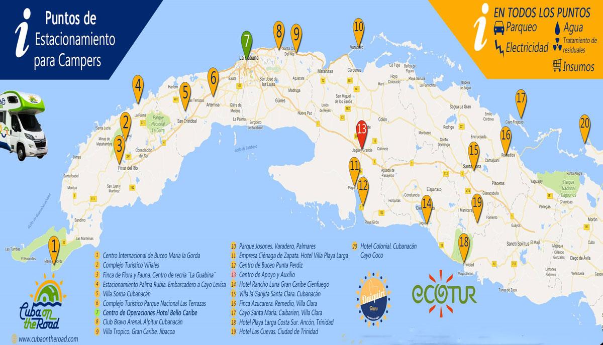Karte Kuba Varadero.Kuba Wohnmobile Ab Havanna Mieten Rent A Camper