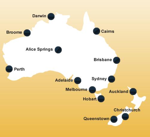 Karte Australien Und Umgebung.Australien Wohnmobile Mieten Rent A Camper