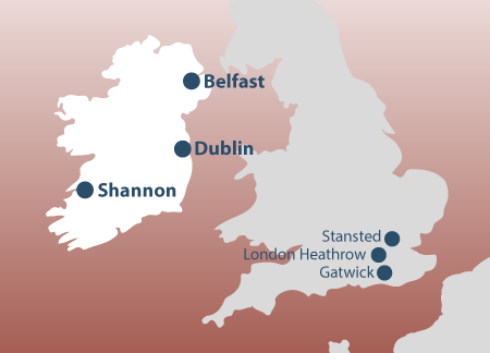 Irland Karte Europa.Irland Campingbusse Wohnmobile Mieten Rent A Camper