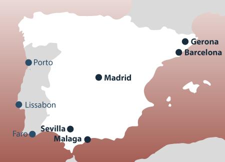 Malaga Karte Spanien.Spanien Wohnmobile Camper Mieten Rent A Camper